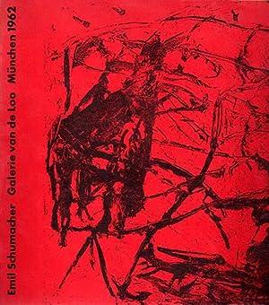 Ölbilder und Gouachen 1962. Galerie van de Loo, münchen 1962.: Schumacher, Emil: