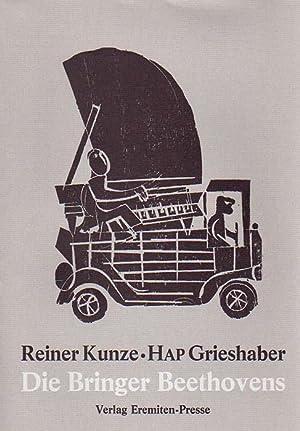 Die Bringer Beethovens. Holzschnitte von HAP Grieshaber.: Grieshaber, HAP - Reiner Kunze: