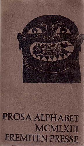 Alphabet 1963. Prosa Jahrbuch. Herausgegeben von V.O.Stomps. Mit 7 Original - Laubsägearbeiten...