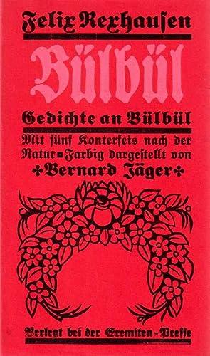 Gedichte an Bülbül. Mit fünf Konterfeis nach der Natur dargestellt von Bernard J&...