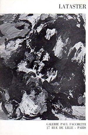 Lataster. Galerie Paul Facchetti., Exposition du 29: Lataster, Ger: