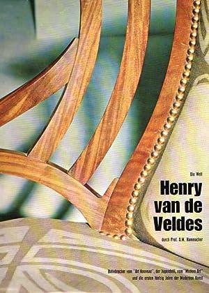 Die Welt Henry Van de Veldes.: Van de Velde, Henry - A. M. Hammacher: