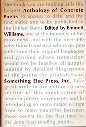An Anthology concrete poetry. Edited by Emmett Williams.: Williams, Emmett (Editor):