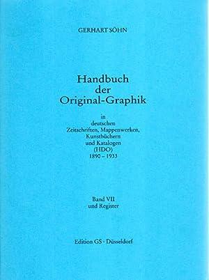 Handbuch der Original-Graphik in deutschen Zeitschriften, Mappenwerken, Kunstbüchern und ...