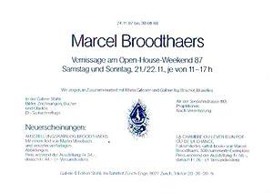 24.11.87 bis 30.01.88, Galerie Stähli, Zürich. Bilder,: Broodthaers, Marcel: