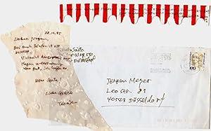 Handschriftlicher Brief.: Saito, Takako: