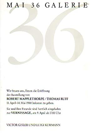 Robert Mapplethorpe / Thomas Ruff. Mai 36: Mapplethorpe, Robert [und]