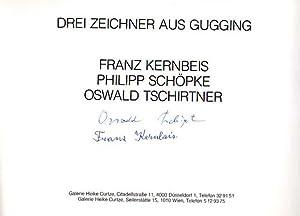 Drei Zeichner aus Gugging.: Kernbeis, Franz [und] Philipp Schöpke, Oswald Tschirtner: