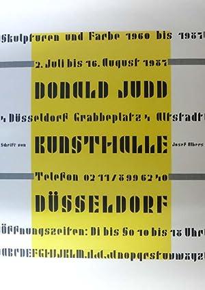 Skulpturen und Farbe 1960 bis 1987. 2. Juli bis 16. August 1987, Kunsthalle Düsseldorf.: Judd,...