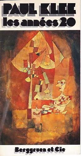 Les annees 20. Berggruen & Cie. Paris.: Klee, Paul: