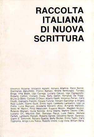 Raccolta italiana di Nuova Scrittura. Vincenzo Accame,