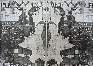 Ausstellung Adolf Wölfli. [Plakat], Galerie Brockstedt, Hamburg, Mai - Juni 1967.: Janssen, ...