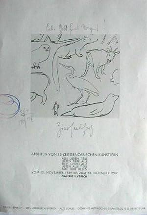 Arbeiten von 15 zeitgenössischen Künstlern. [Plakat]. Horst: Hafner, Jonas]: