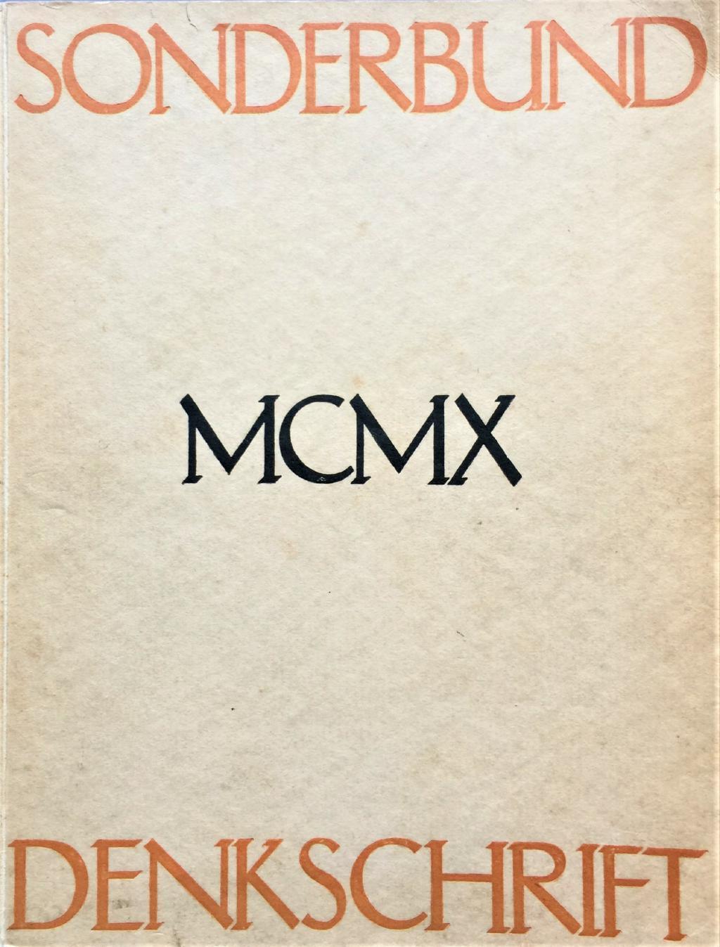 Denkschrift des Sonderbundes auf die Ausstellung MCMX: Niemeyer, Wilhelm: