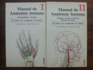 MANUAL DE ANATOMIA HUMANA - 2 TOMOS - H. Frick - H. Leonhardt - D. Starck