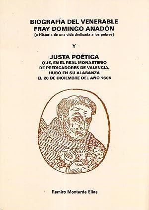 BIOGRAFIA DEL VENERABLE FRAY DOMINGO ANADON Y JUSTA POETICA: Ramiro Monterde Elias