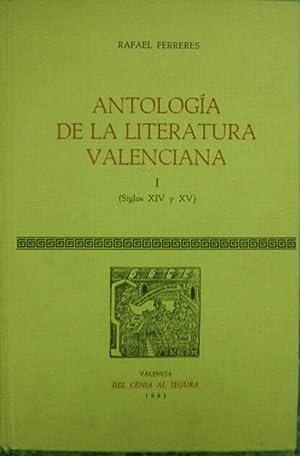 ANTOLOGIA DE LA LITERATURA VALENCIANA I. (Siglos XIV - XV): Rafael Ferreres