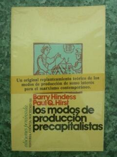 LOS MODOS DE PRODUCCION PRECAPITALISTAS: Barry Hindess - Paul Q. Hirst