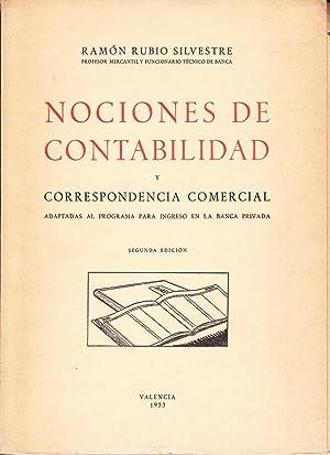 NOCIONES DE CONTABILIDAD Y CORRESPONDENCIA COMERCIAL: Ramon Rubio Silvestre