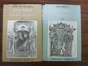 HISTORIA DE LA EDAD MEDIA (2 TOMOS): Jose Mª Lacarra - Juan Regla