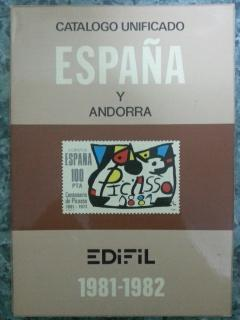 CATALOGO UNIFICADO ESPAÑA Y ANDORA 1981 - 1982
