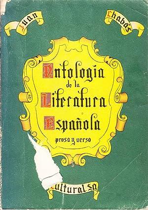 ANTOLOGIA GENERAL DE LA LITERATURA ESPAÑOLA (VERSO Y PROSA): Juan Chabas