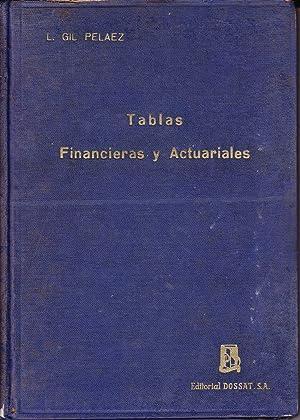 TABLAS FINANCIERAS Y ACTUARIALES: Lorenzo Gil Pelaez