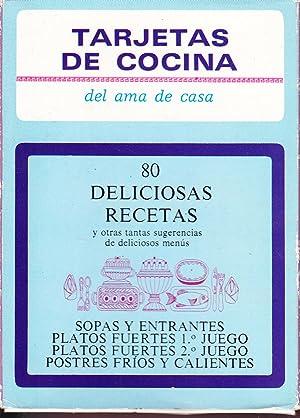 TARJETAS DE COCINA DEL AMA DE CASA - 80 DELICIOSAS RECETAS