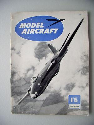 Model Aircraft I'6 August 1956 Modellbau model making