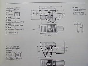 Kanalguss Katalog Bergmann & Franz Passavant K