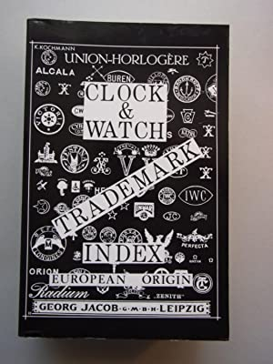 Clock Watch Trademark Index European Origin Georg Jacob Uhrenmarken Manufakturen