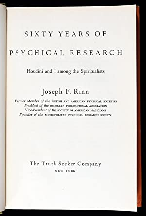 Sixty Years of Psychical Research: Joseph F. Rinn