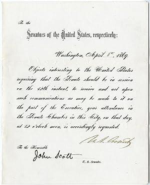 President Grant Calls the Senate Into Special: Ulysses S. Grant