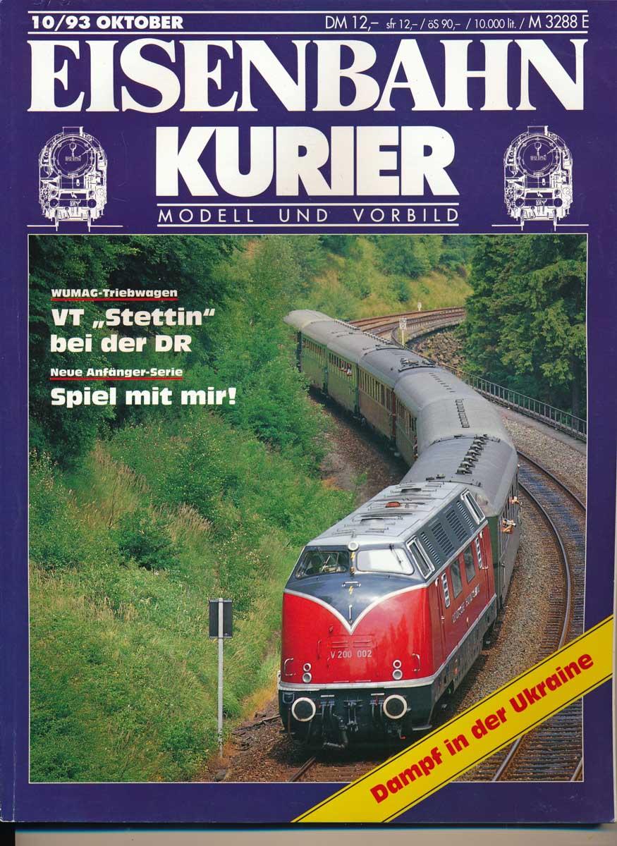 12,00 DM Eisenbahn Kurier 10 1993 Guter Zustand