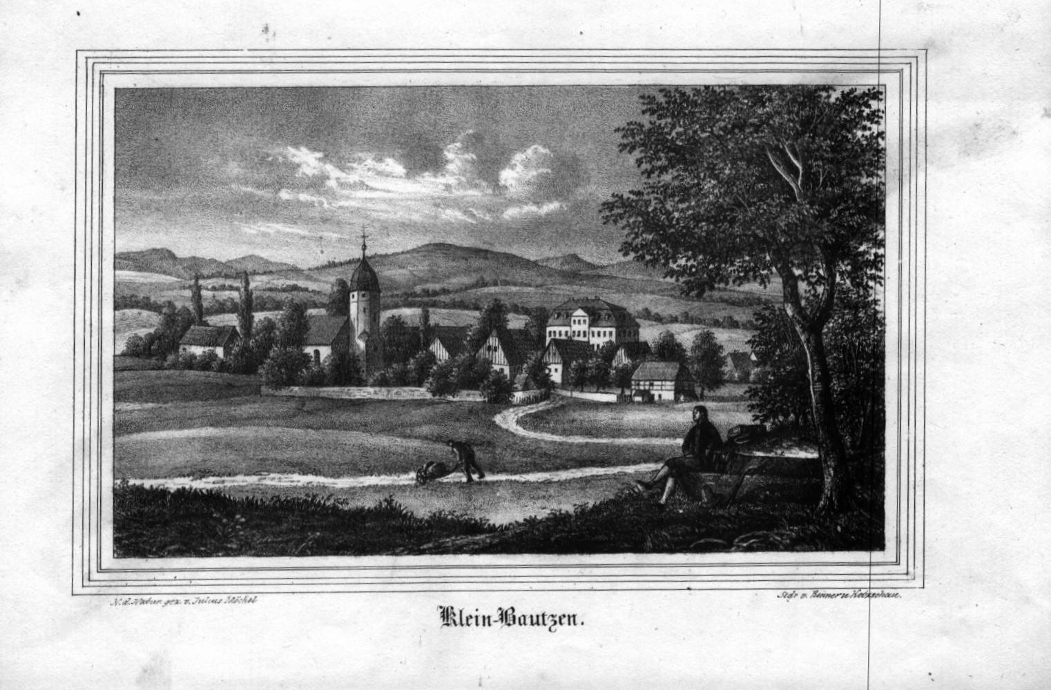 24adf04809f Klein-Bautzen. N. d. Natur gezeichnet von J. Möckel. Lithographie ...