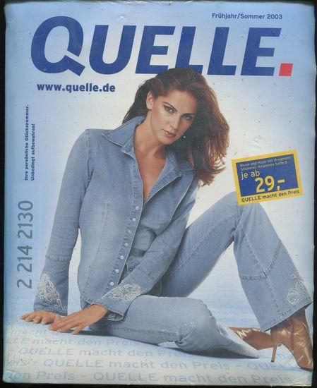 Quelle Katalog Frühjahr Sommer 2003 Original Verpackt Von