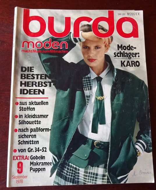 burda moden macht mode zum mitmachen september 1978 komplett mit beiliegenden 2 gefalteten. Black Bedroom Furniture Sets. Home Design Ideas