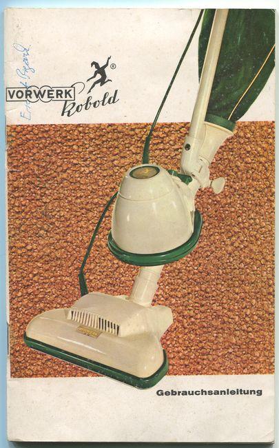 Vorwerk Kobold Gebrauchsanleitung 1962 Von Vorwerk Co