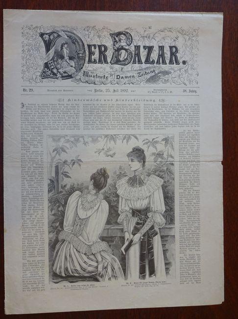 Der Bazar. Illustrirte Damen-Zeitung. Nr. 29 -: Bazar: