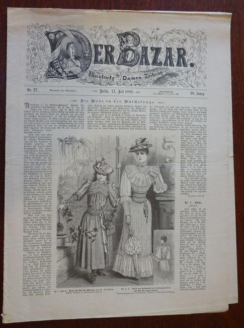 Der Bazar. Illustrirte Damen-Zeitung. Nr. 27 -: Bazar: