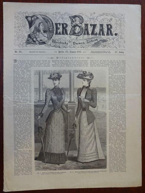 Der Bazar. Illustrirte Damen-Zeitung. Nr. 33 -: Bazar: