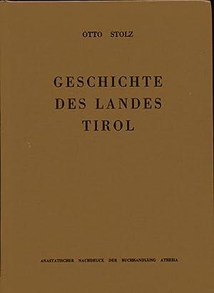 Geschichte des Landes Tirol. Quellen und Literatur.: Stolz, Otto: