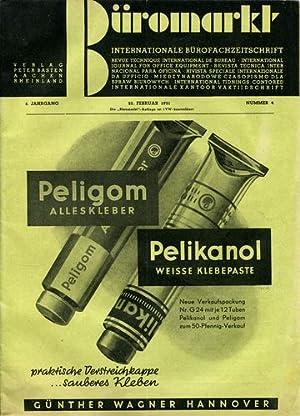 Büromarkt. Internationale Bürofachzeitschrift. Nummer 4. 25. Februar 1951.: Büromarkt: