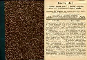 Centralblatt für Wagenbau, Sattlerei, Riemerei, Täschnerei, Tapeziererei,: Centralblatt für Wagenbau: