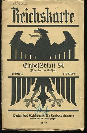 Reichskarte. Einheitsblatt 84 - Paderborn - Arolsen.: Reichsamt für Landesaufnahme