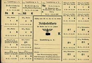 Reichsfettkarte für Kinder von 6 - 14: Lebensmittelkarten: