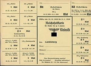 Reichsfettkarte für Kinder von 3 Jahren. Gültig: Lebensmittelkarten: