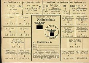 Reichsfettkarte. Gültig vom 15.1. bis 11.2.1940.: Lebensmittelkarten: