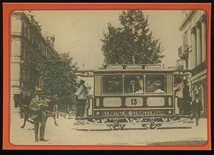 Postkarte: Rösslitram 13 (SIG 1882) um 1899: Strassenbahn: