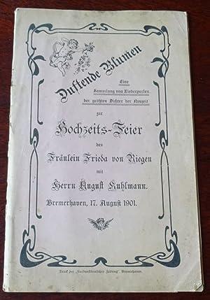 Duftende Blumen. Eine Sammlung von Liederperlen der: Bremerhaven: